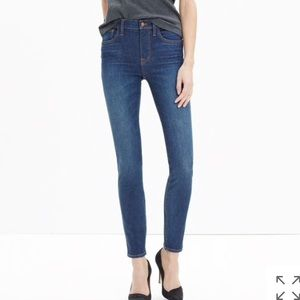Madewell The high riser skinny jean surfside wash
